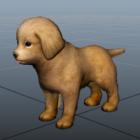 Tan Puppy Dog Character