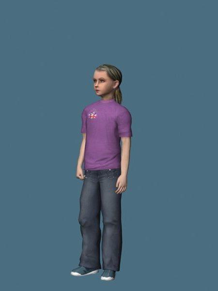 Teini-ikäinen tyttö seisoo