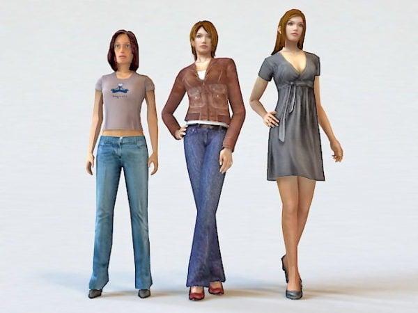 Mujer de moda tres