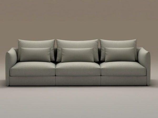 Three Seats Cushion Couch