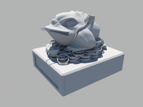 تمثال الضفدع