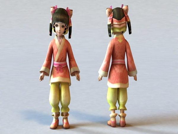 طفلة صينية تقليدية