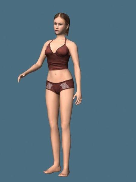 Underwear Woman Rigged