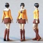 Uptown School Girl Character