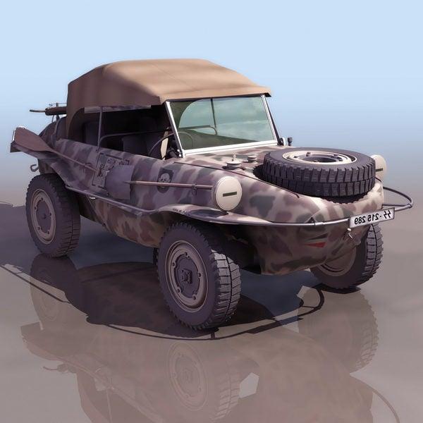 الحرب العالمية الثانية الألمانية سيارة برمائية