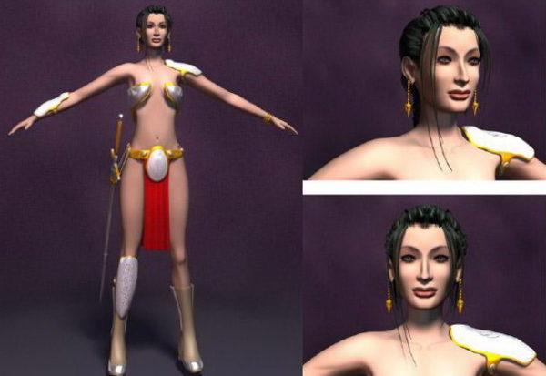 Personaje de princesa guerrera