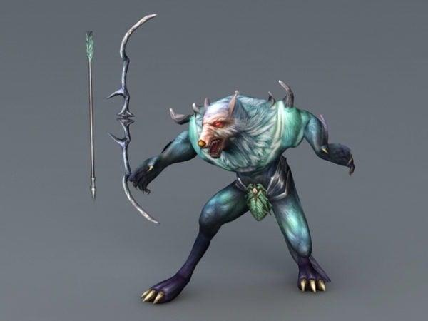 Werewolf Archer With Bow