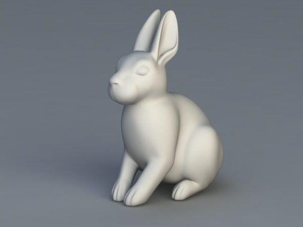 تمثال الأرنب الأبيض