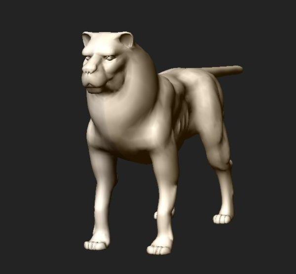 Personaje león blanco