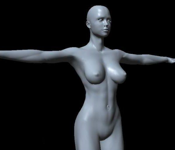 Mujer Body Base Mesh Character