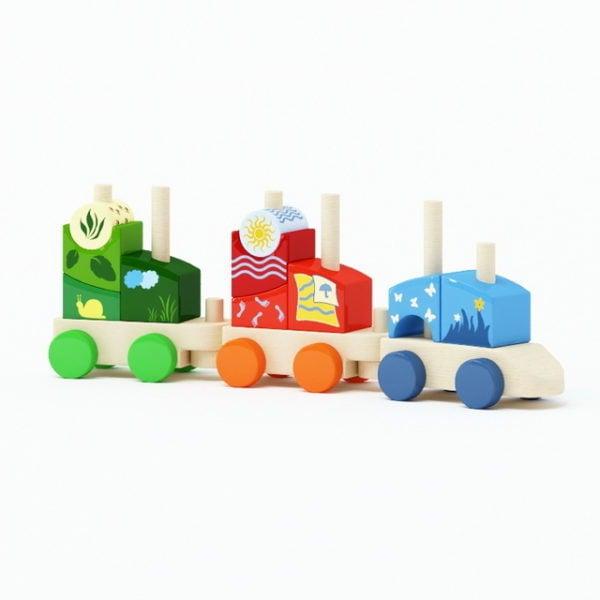 Wood Toy Trains