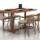 Wooden Simple Dining Table Set