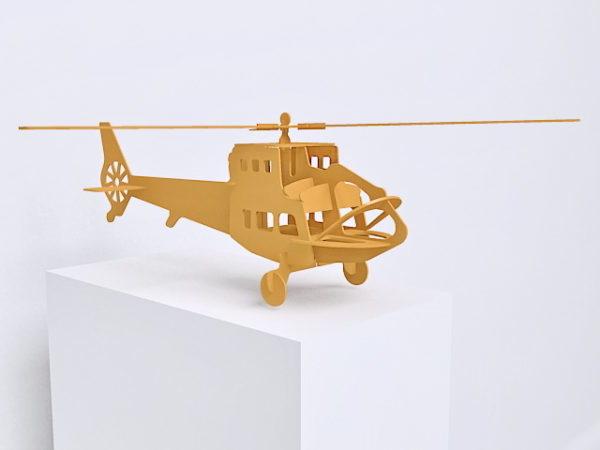 Helicóptero de juguete de madera