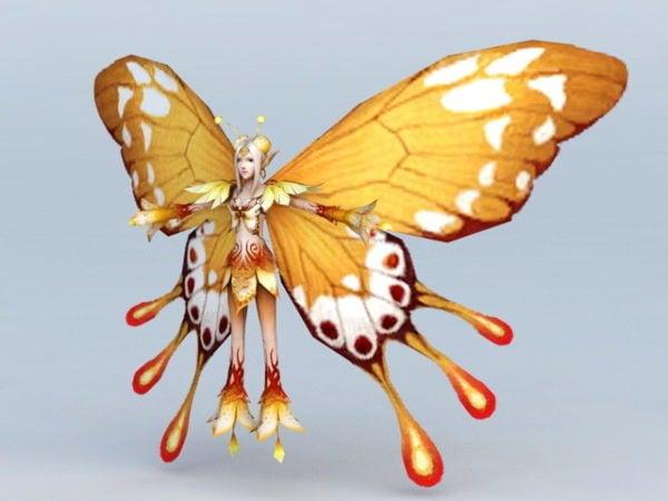 Hada mariposa amarilla