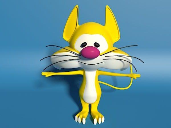 Carácter de gato amarillo