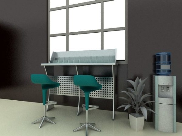 Customer Service Bank Counter Free 3d Model Max Vray Open3dmodel 183670