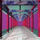 ممر الحديقة الصينية التقليدية