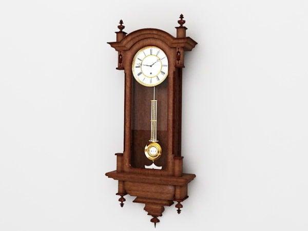 Reloj de pared antiguo de sala de estar