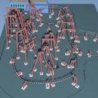 遊園地のジェットコースターゲーム