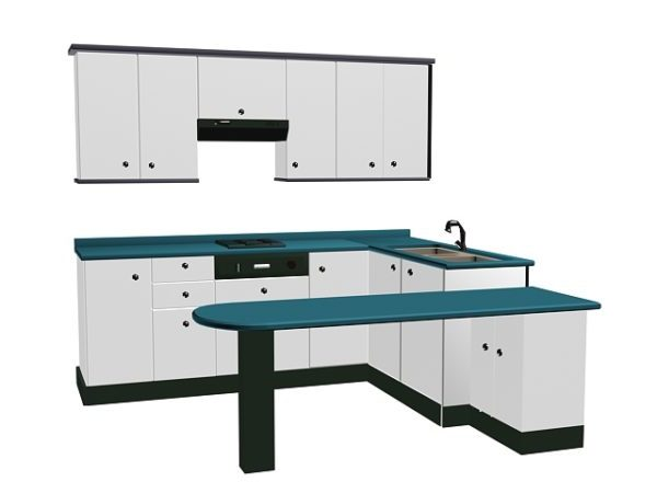 l shape kitchen with counter free 3d model max vray open3dmodel 198516 l shape kitchen with counter free 3d