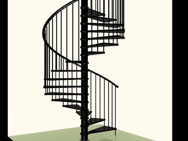 House Spiral Staircase Free 3d Model Max Vray Open3dmodel 206819