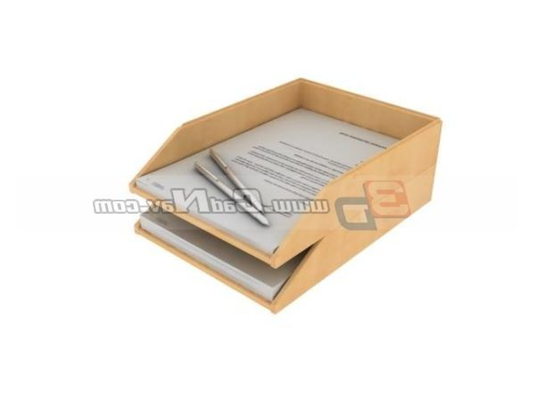2 Layer Wood File Holder Equipo de oficina