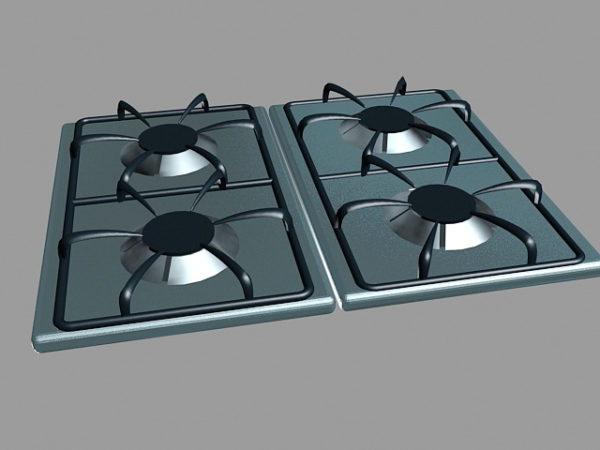 المطبخ 4 الموقد موقد الغاز