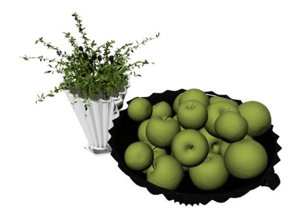 Apple With Flower Pot