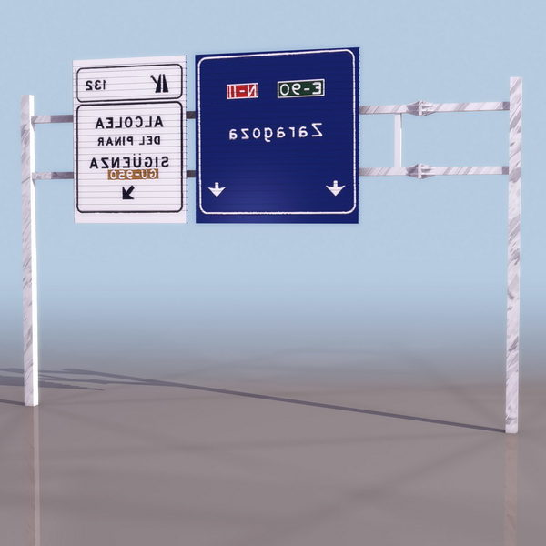 Señal de carretera direccional anticipada