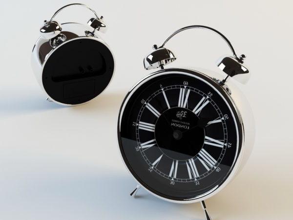 Reloj despertador analógico de dormitorio
