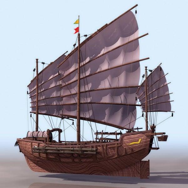 Ancient Chinese Junk Ship