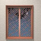 نافذة شعرية خشبية خمر