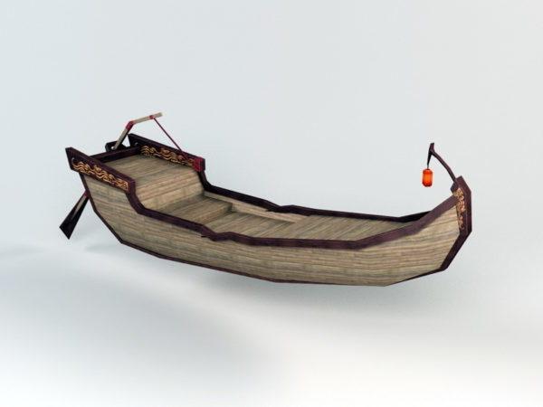 Vintage Canoe Row Boat