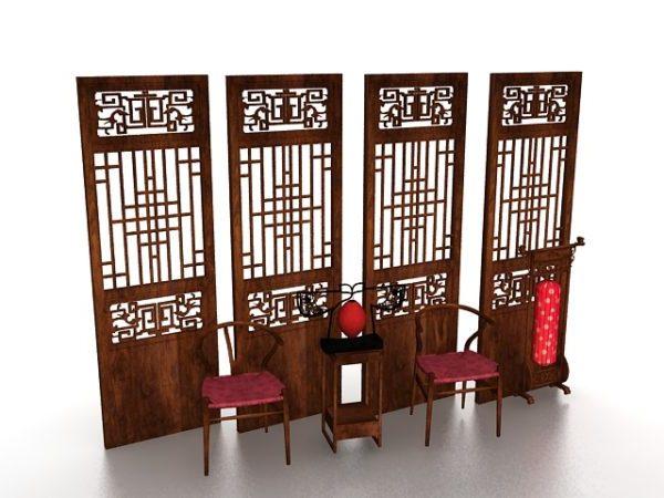 Muebles antiguos chinos