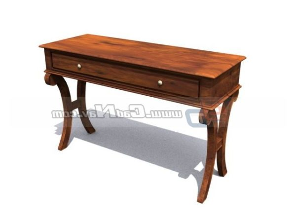 European Wooden Console Table Design Free 3d Model 3ds Max Vray Open3dmodel 198272