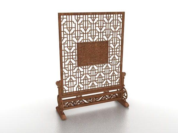 Soporte de pantalla de madera para sala interior