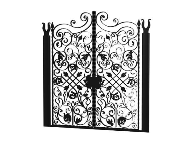 Wrought Iron Home Gates Free Model