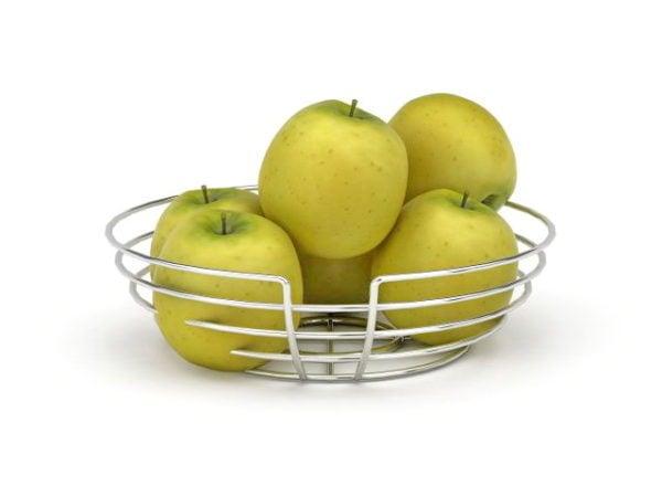 Fruit Apple In Wire Basket