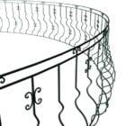 Antique Arc Balcony Railings