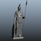 Antique Athena Greek Goddess Statue