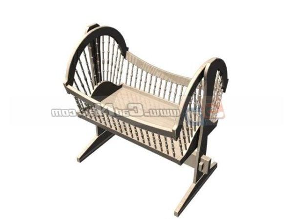 Wooden Baby Swing Crib Cradle