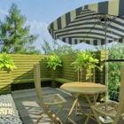 Modernt balkonggrönt landskap