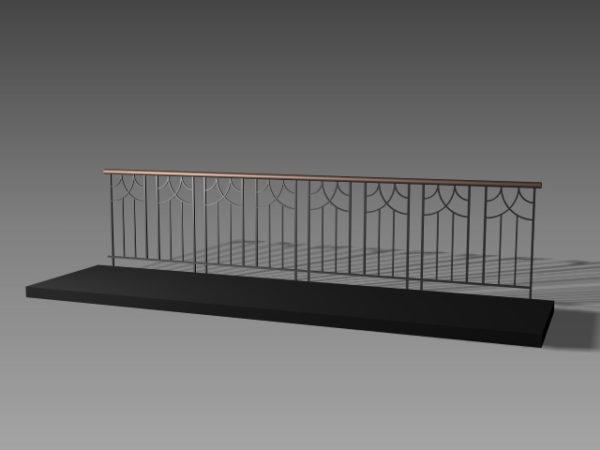 Home Balcony Railing Design Free 3d Model - .3ds, .Dwg ...