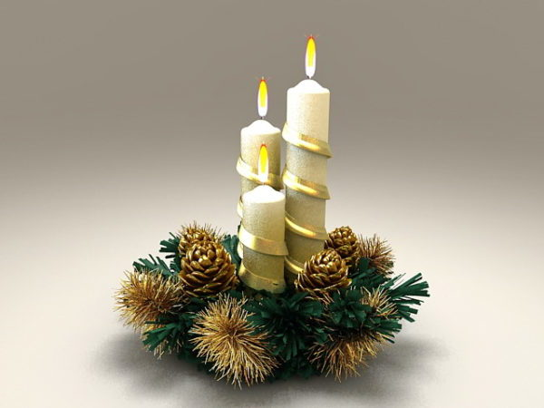 Decoration Of Christmas Candles