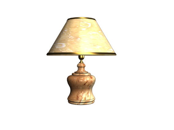 Old Antique Table Lamp Free Model