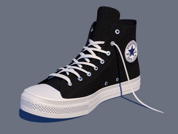 Mustat käänteiset kengät