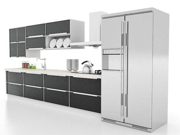 Single Black Kitchen Cabinets