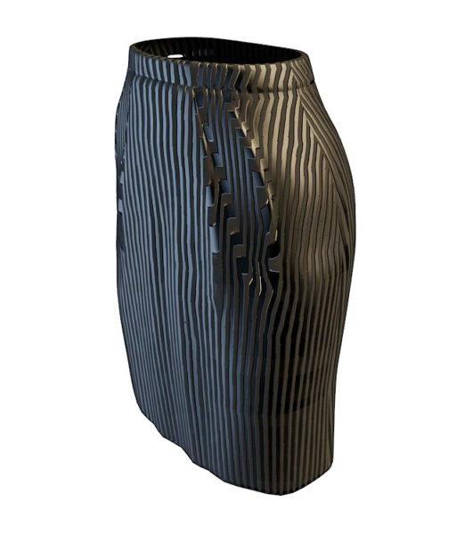 Falda lápiz negra de moda