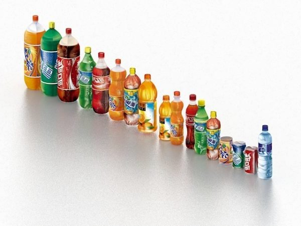 Difference Size Of Bottled Drinks Pack