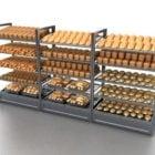 Supermarket Bread Display Racks